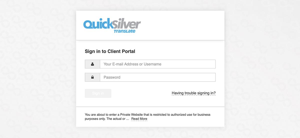 QuickSilver Customer Portal